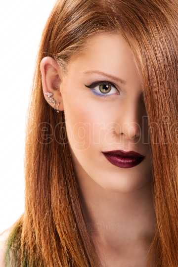 Portrait of a beautiful young girl with make up