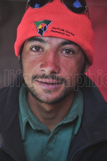 Portrait of a mountain climber in Pakistan.