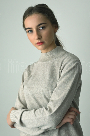 Portrait Of Young Girl shoot in Studio