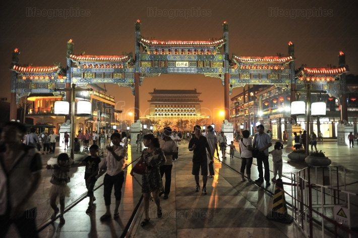 Qianmen is Beijing s most famous gate tower.