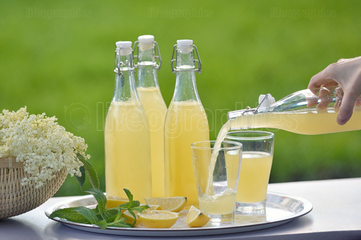 Refreshing springtime elderflower cordial