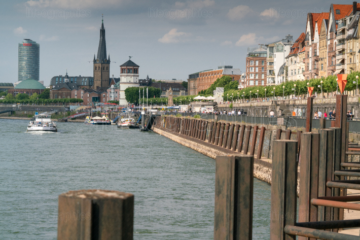 Rhine river, Dusseldorf, Germany