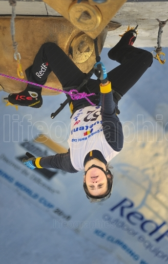 Russian climber at UIAA Ice Climbing World Cup Busteni 2010