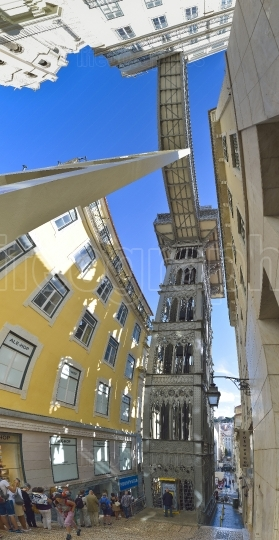 Santa Justa Lift in Lisbon, Portugal