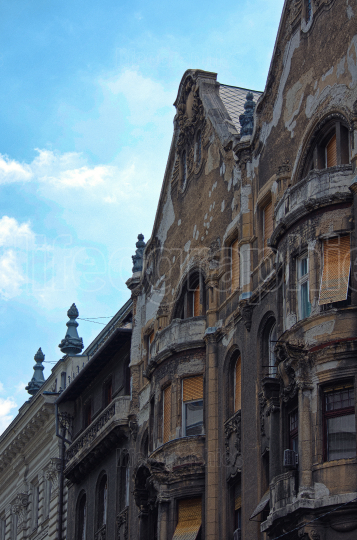 Side view of old buildings in Budapest