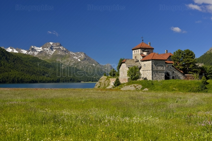 Silvaplana Castle near St. Moritz. Switzerland