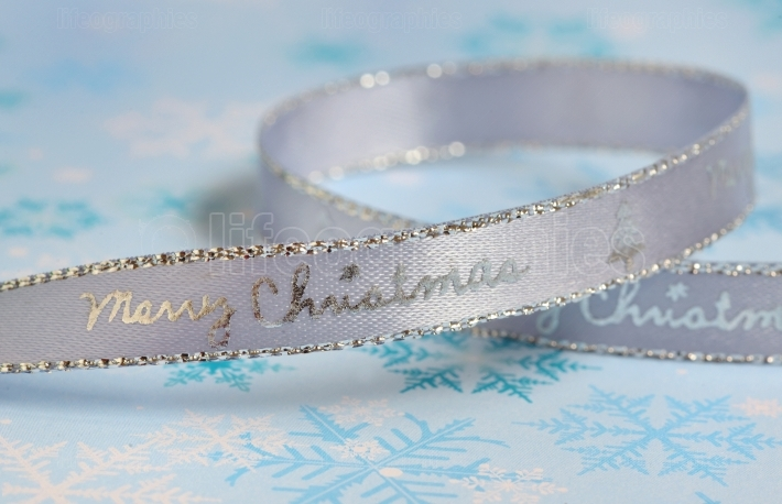 Silver ribbon isolated