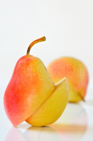 Sliced Ripe Pear Isolated