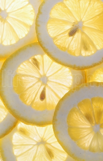 Slices of lemon background