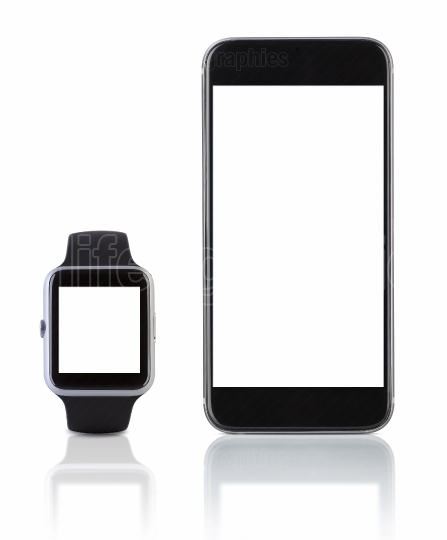 Smart watch sport with SmartPhone