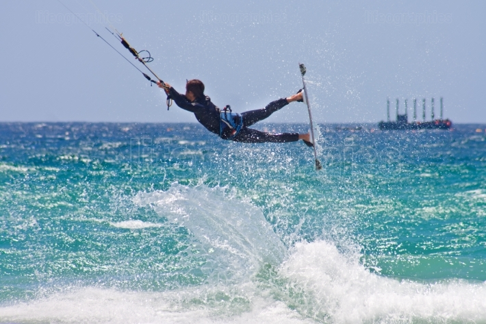 Sportsman kite surfer