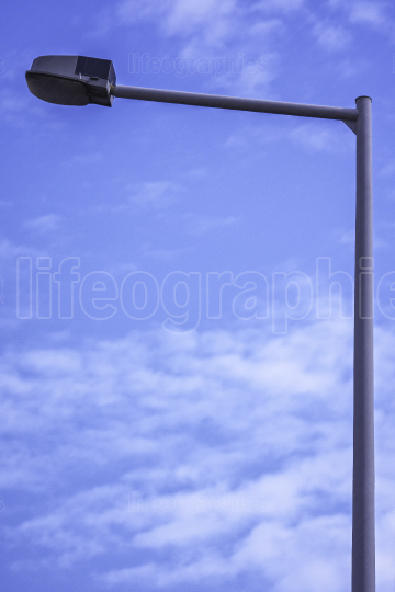 Street light and clear blue sky