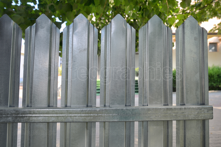 Surface Of Zinc Fence