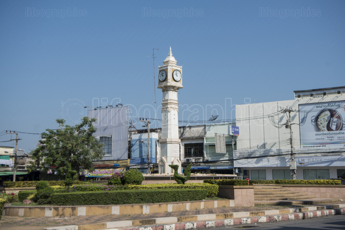 THAILAND PHITSANULOK CITY CLOCK TOWER