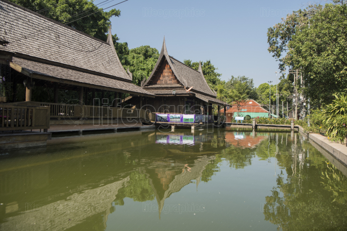 THAILAND PHITSANULOK CITY WOOD HOUSE