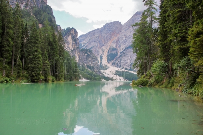 The  lake of Braies