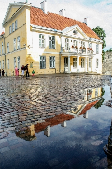 The old town of Tallin after the rain