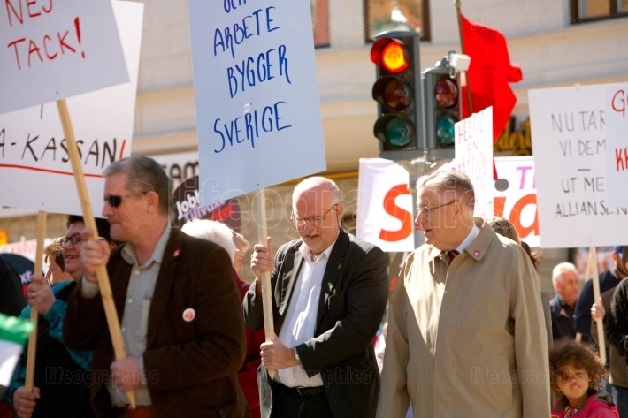 The Social Democrats  May Day in Sodertalje, Sweden, 2012