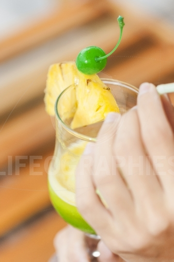 Tropical cocktail drink