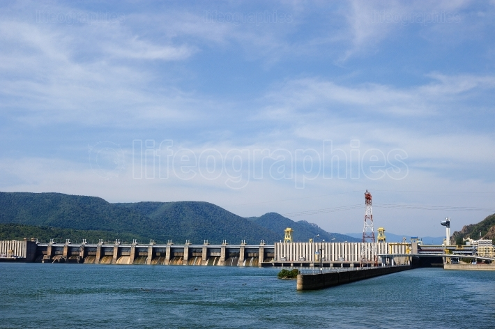 TURNU SEVERIN ROMANIA, SEP 16 The Iron Gate I Hydroelectric Powe