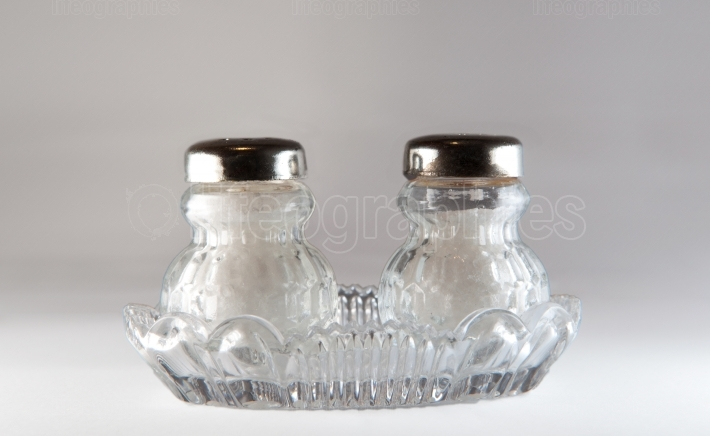 Two salt shakers