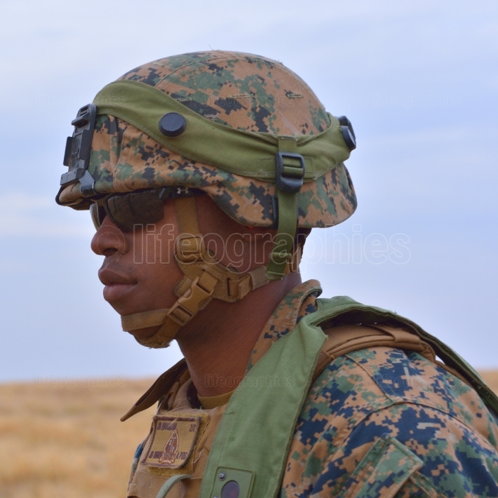 Us marines in romanian military polygon