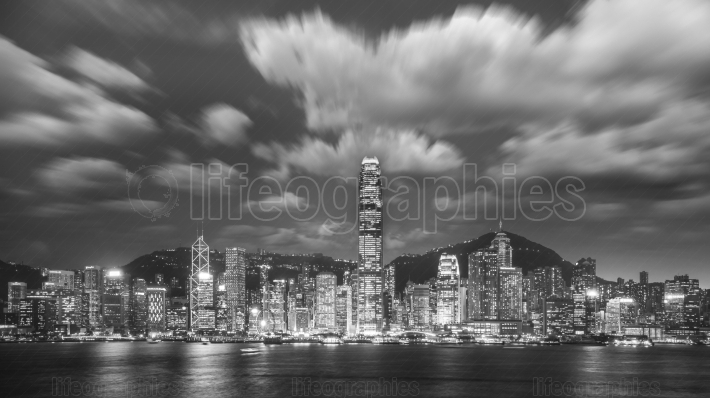 Victoria Harbor of Hong Kong