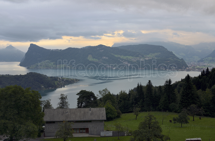 View of Lake Lucerne in Switzerland