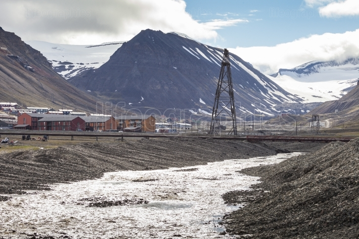 View over Longyearbyen, Svalbard, Norway