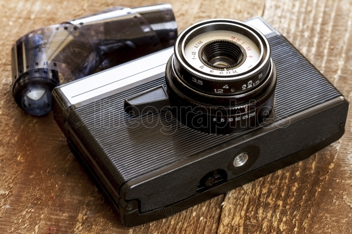 Vintage old film photo camera