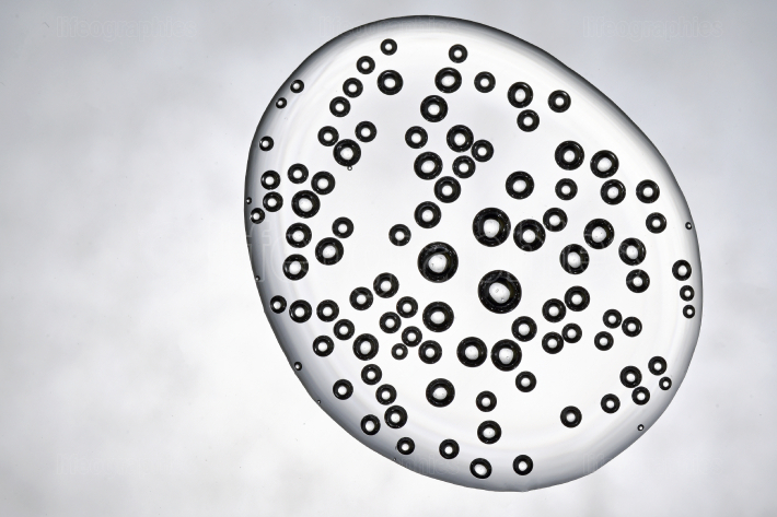 Water Drop of Bubbles Air Inside