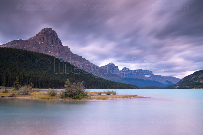 Waterfowl Lake, Banff National Park, Icefield Parkway, Alberta,