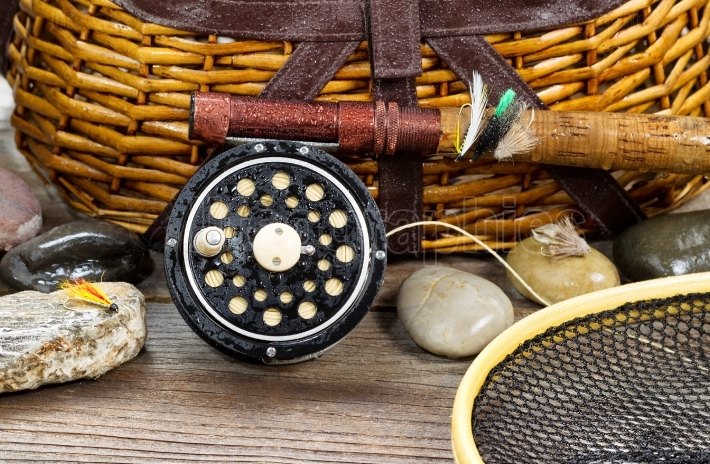 Wet antique fishing gear