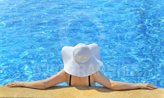 Woman with  hat relaxing
