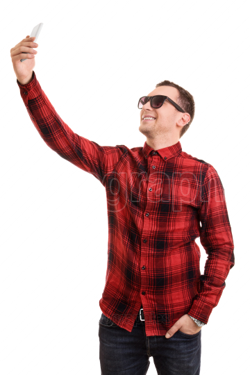 Young man taking a selfie
