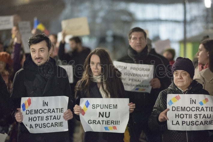 Zurich, 5 february 2017. Protest in solidarity with the protest against the government in Bucharest