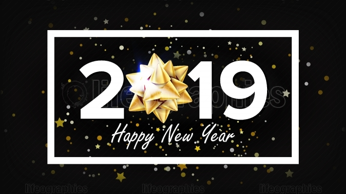 2019 Happy New Year Background Vector  Greeting Card Design Template  Christmas  Illustration