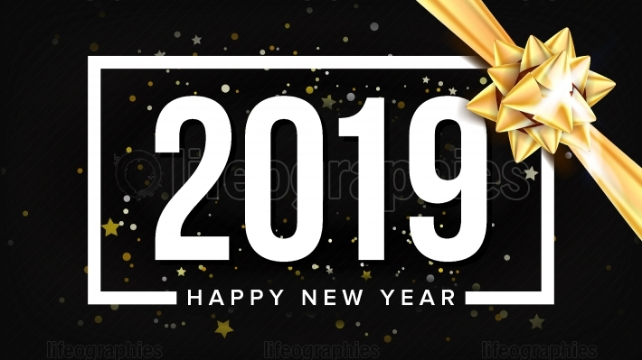 2019 Happy New Year Background Vector  Holiday Of 2019 Year  Premium Luxury  Christmas  Illustration