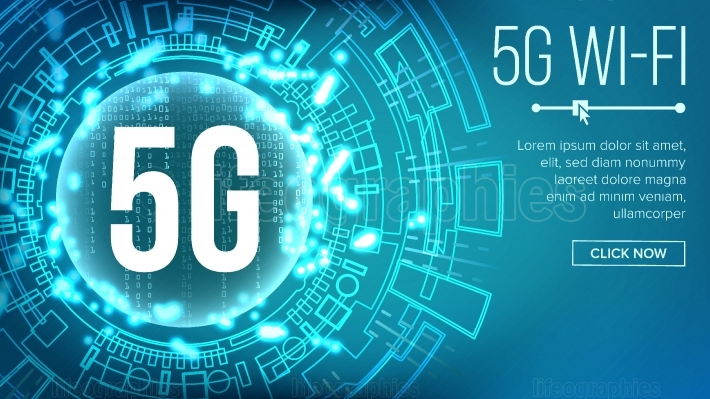 5G Wi Fi Standard Background Vector  Telecommunication  Wireless Network  Internet Wi Fi Connection  Future Technology Illustration