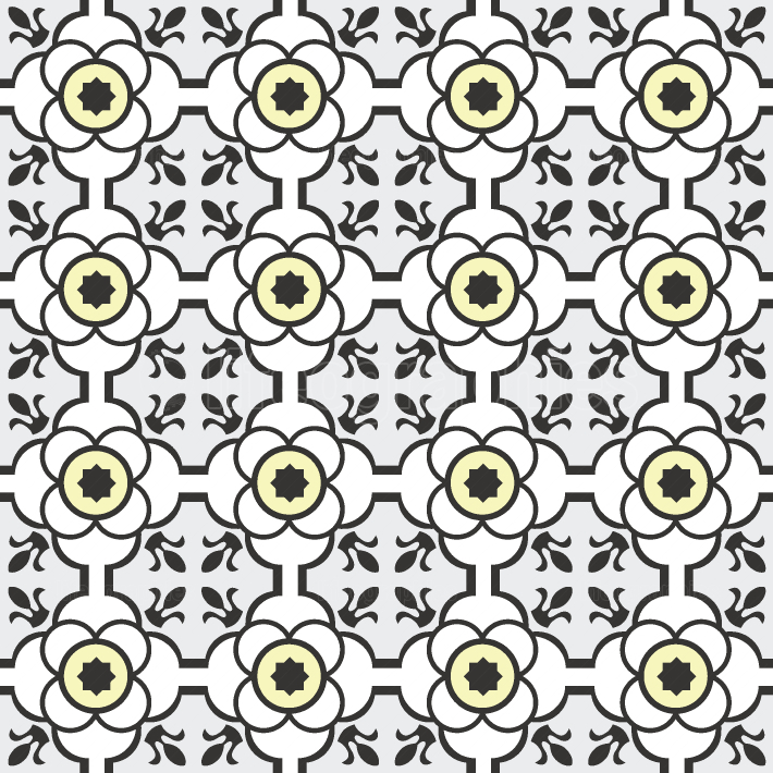 Abstract seamless arabesque vector patterns