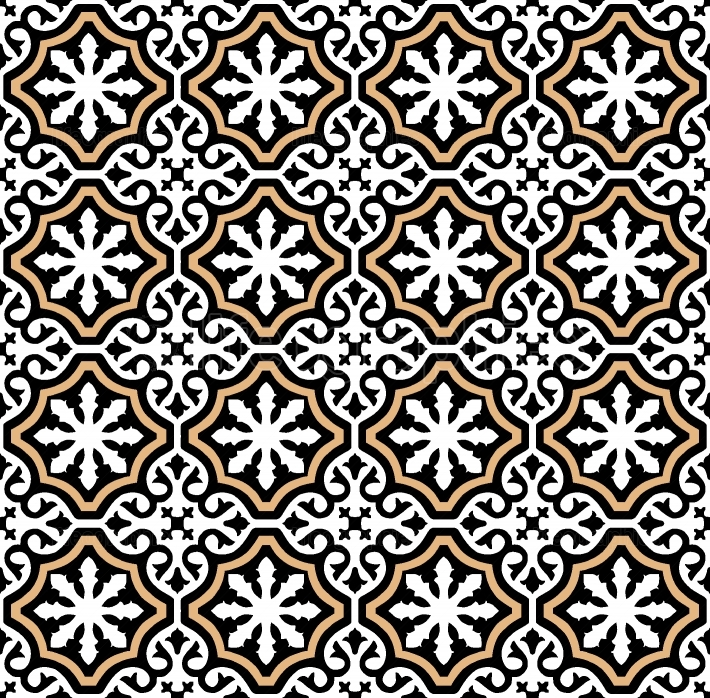 Andalusian tiles pattern style