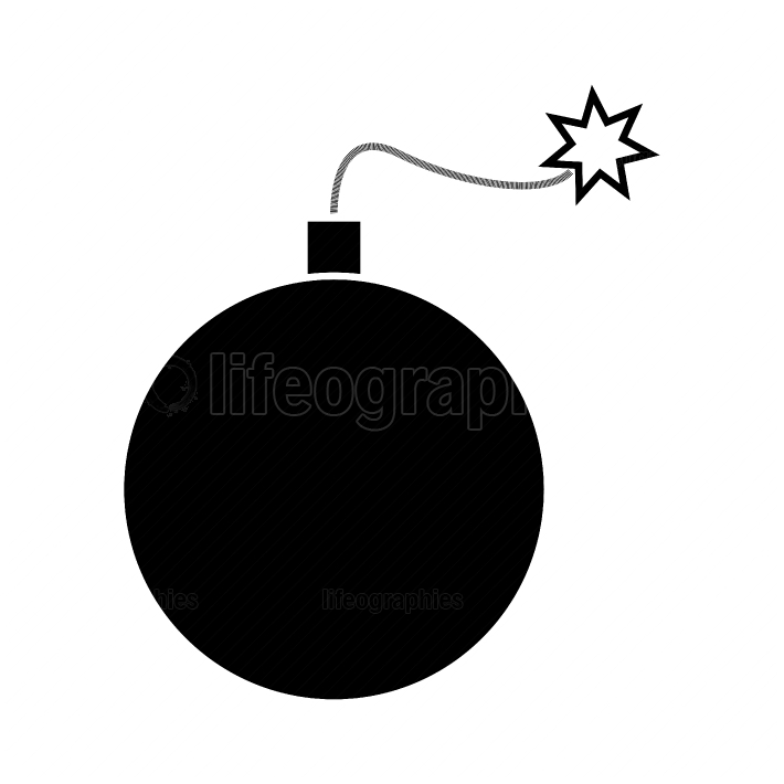 Bomb black color icon