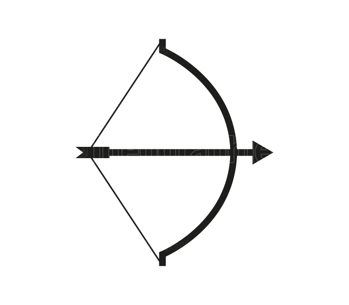 bow icon with arrow