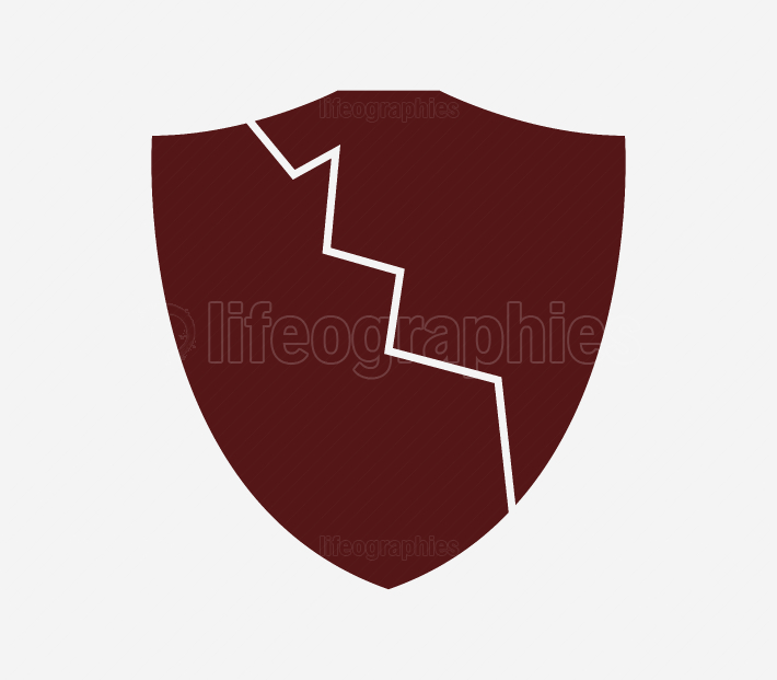 broken shield icon