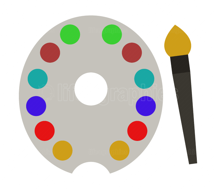 brush and palette icon