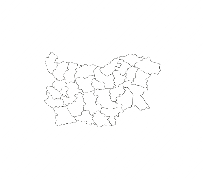 Bulgaria map with regions