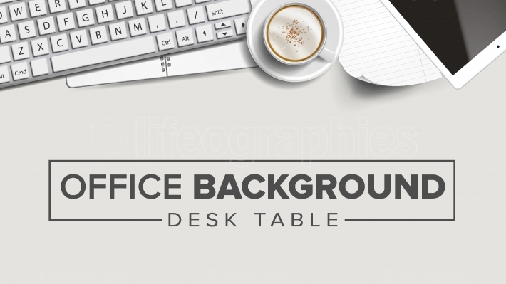 Business Workplace Background Vector  Laptop, Computer, Keyboard, Coffee Cup, Smartphone, Notebook  Corporate Creative Banner Design  Illustration
