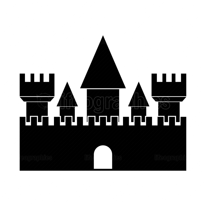 Castle black color icon