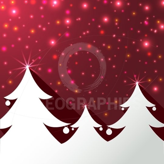 Christmas tree background greeting card