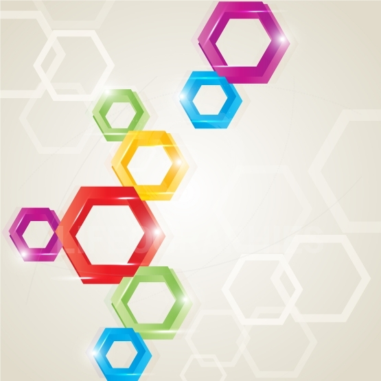 Colored polygon 3D shape background